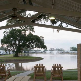 Brazoria Lakes RV Resort lake view