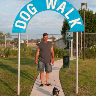 Greenlake RV Resort dog walk