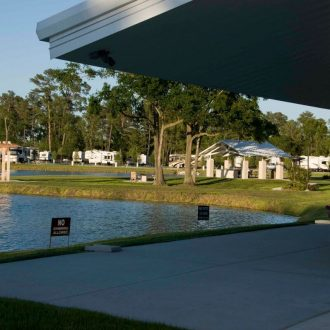 Northlake RV Resort Clubhouse, Swing, Gazebo