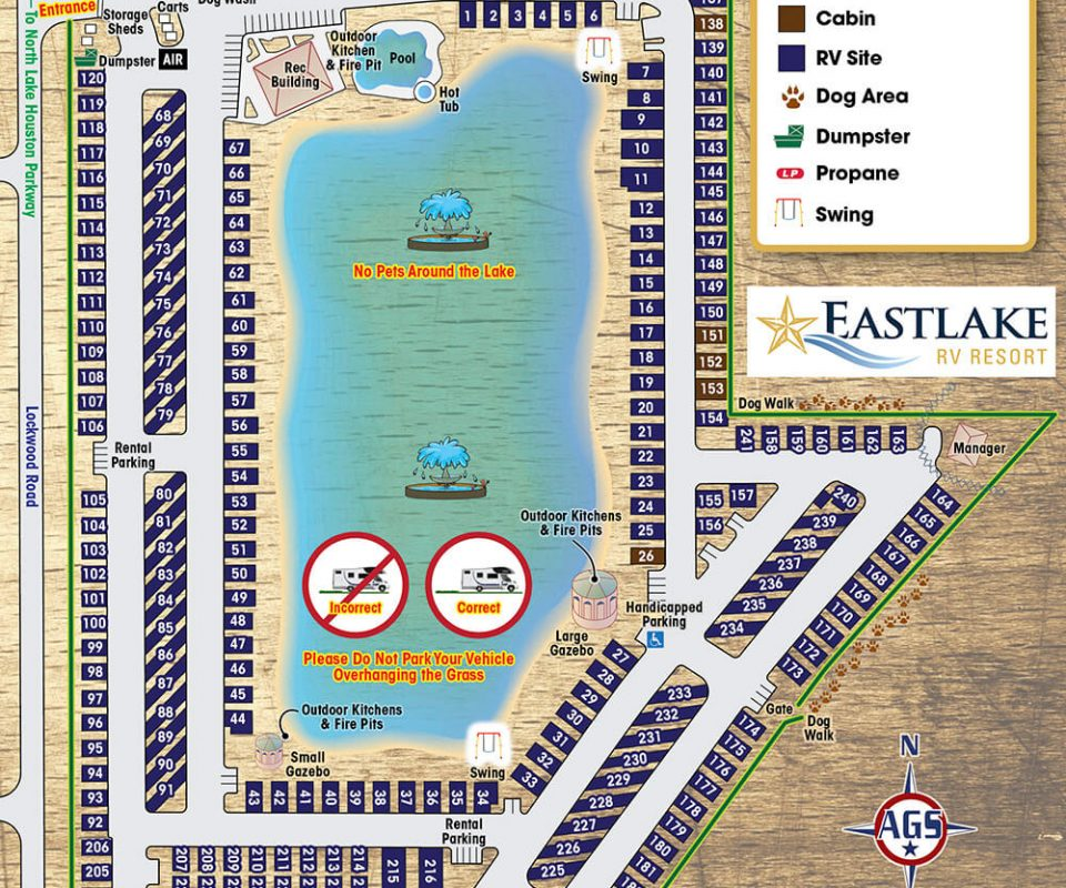 Eastlake RV Resort Park Map