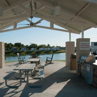 Fallbrook RV Resort outdoor cooking