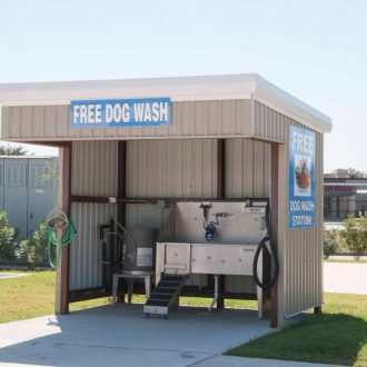 Fallbrook RV Resort dog wash