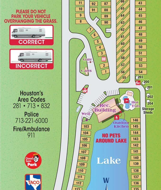 Fallbrook RV Resort Park Map