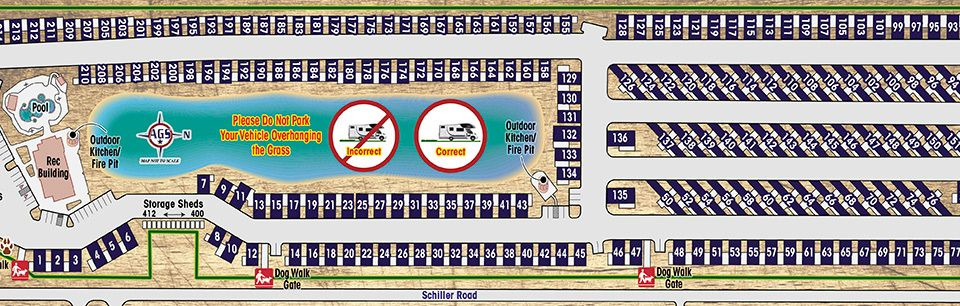 Highway 6 RV Resort Park Map