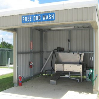 Eastlake RV Resort dog wash