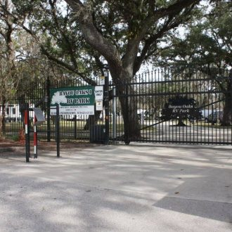 Bayou Oaks RV Resort entrance