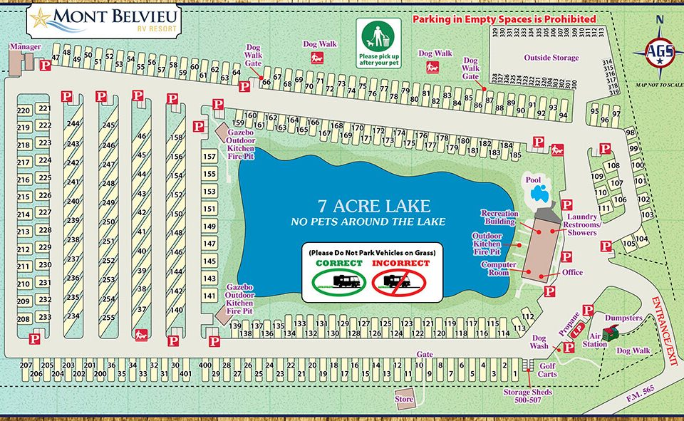 Mont Belvieu RV Resort Park Map