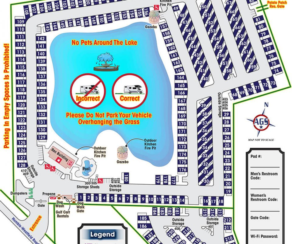 Northlake RV Resort Park Map