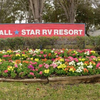 All Star RV Resort Sign Panorama