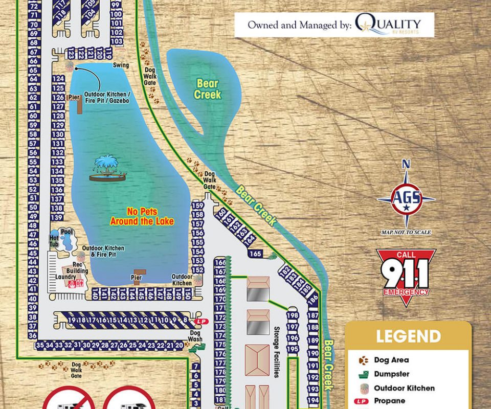 Westlake RV Resort Park Map