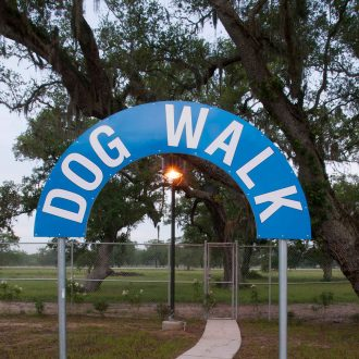 Brazoria Lakes RV Resort dog walk