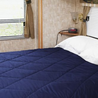 WestLake RV Resort west blue bed