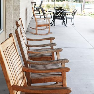 WestLake RV Resort rocking chairs