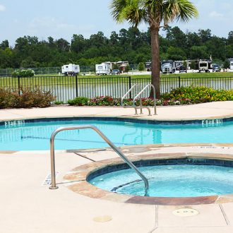 WestLake RV Resort pool and spa