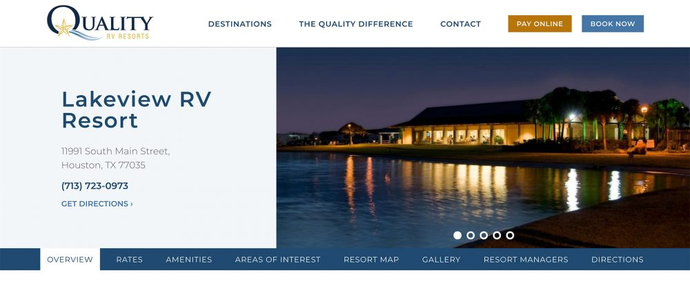 Quality RV Resorts Announces a Big, Brand New, Beautiful Website!